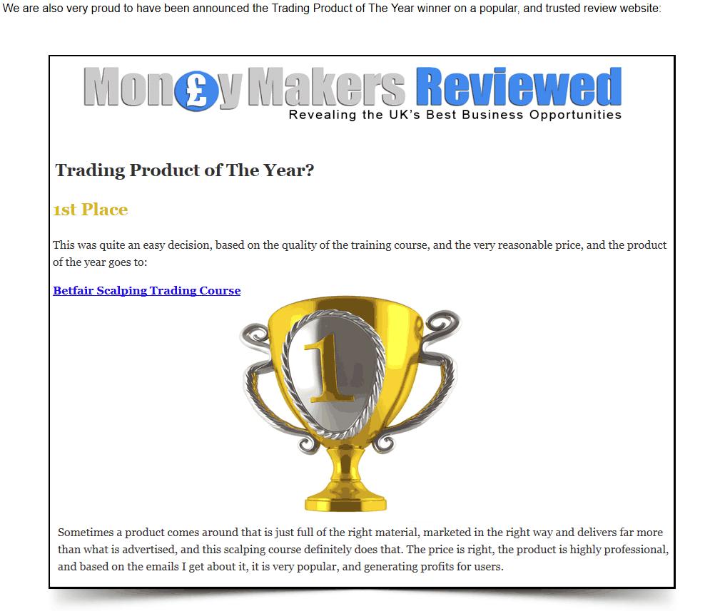 Betfair Scalper Award